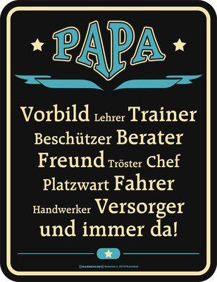 Blechschild Papa Vorbild Vater Spruch Schild Blech | eBay