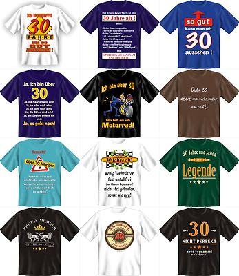 Fun Shirt 30 Jahre, T Shirt Sprüche 30. Geburtstag Witzig Geschenk Party