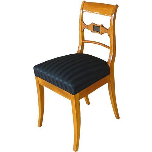 biedermeier stuhl st hle kirschbaum massiv polsterstuhl nachbau 3117 ebay. Black Bedroom Furniture Sets. Home Design Ideas