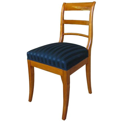 biedermeier stuhl st hle kirschbaum massiv polsterstuhl nachbau 3118 ebay. Black Bedroom Furniture Sets. Home Design Ideas