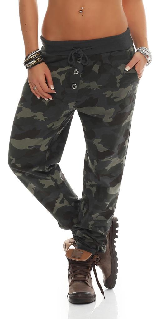 damen hose sweatpants jogginghose freizeithose sweathose im military tarnmuster ebay. Black Bedroom Furniture Sets. Home Design Ideas