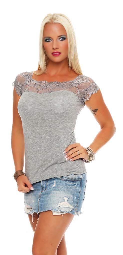 damen spitzenshirt spitze spitzen t shirt bluse shirt. Black Bedroom Furniture Sets. Home Design Ideas