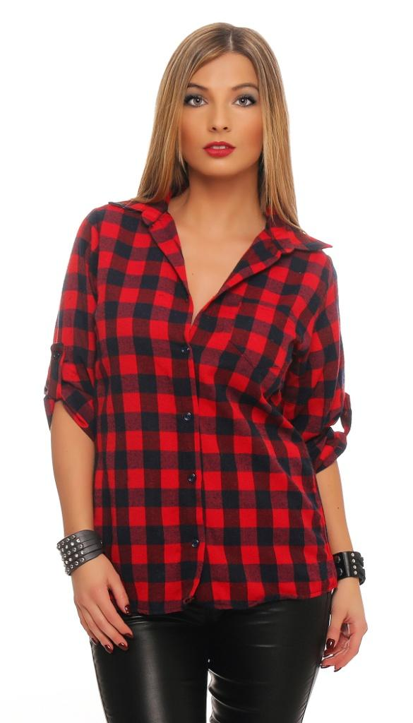 damen bluse karo hemd kariert langarm long shirt top karo oversize longshirt ebay. Black Bedroom Furniture Sets. Home Design Ideas