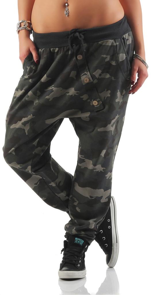 damen hose sweatpants mit camouflage print jogginghose. Black Bedroom Furniture Sets. Home Design Ideas