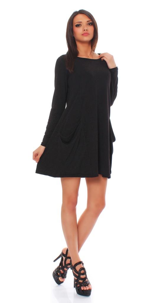 tunika longshirt damen minikleid longshirt kleid langarm kurzarm 36 38 40 42 44 ebay. Black Bedroom Furniture Sets. Home Design Ideas