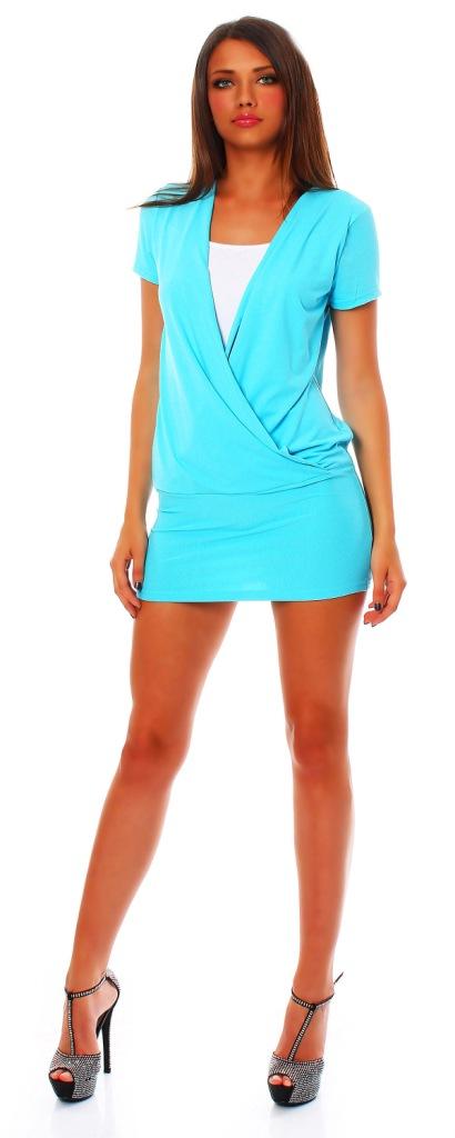 tunika 2 in 1 optik bluse t shirt bluse top minikleid. Black Bedroom Furniture Sets. Home Design Ideas