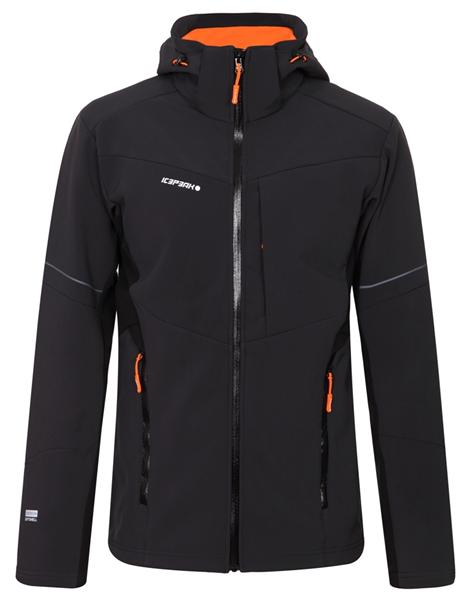 Icepeak BADE Softshelljacke Hoodie Herren anthrazit/orange *UVP 99,95