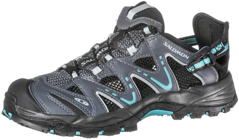 Salomon Riverside Outdoorsandale Damen grey denim/onyx/azure *UVP 89,95