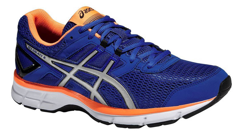 asics Gel Galaxy 8 T525N Herren Runningschuh blue/silver/orange *UVP 89,99