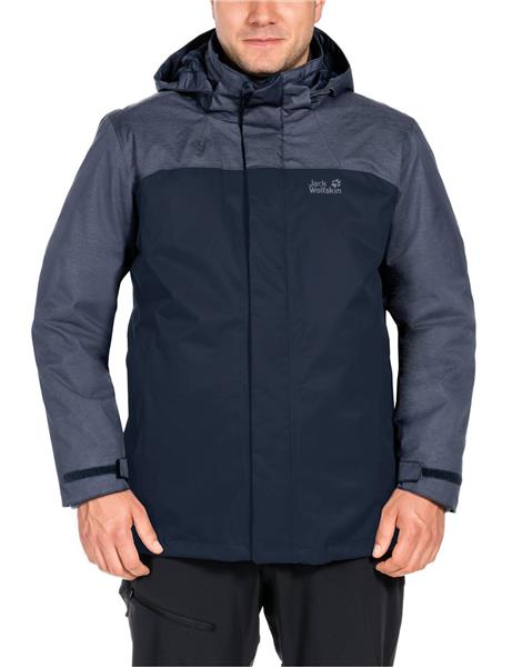 Jack Wolfskin Echo Lake men 3 in 1 Doppeljacke Herren blue *UVP 219,99