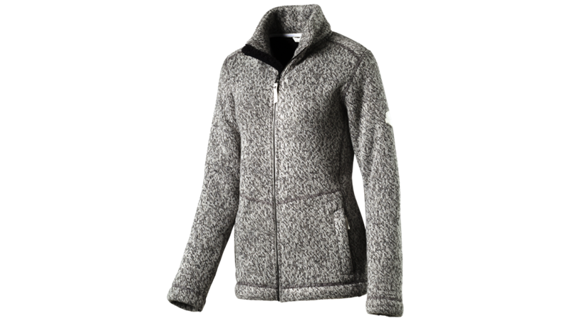McKinley Kadolo Damen Strickfleece Jacke 253442 grey light *UVP 99,99
