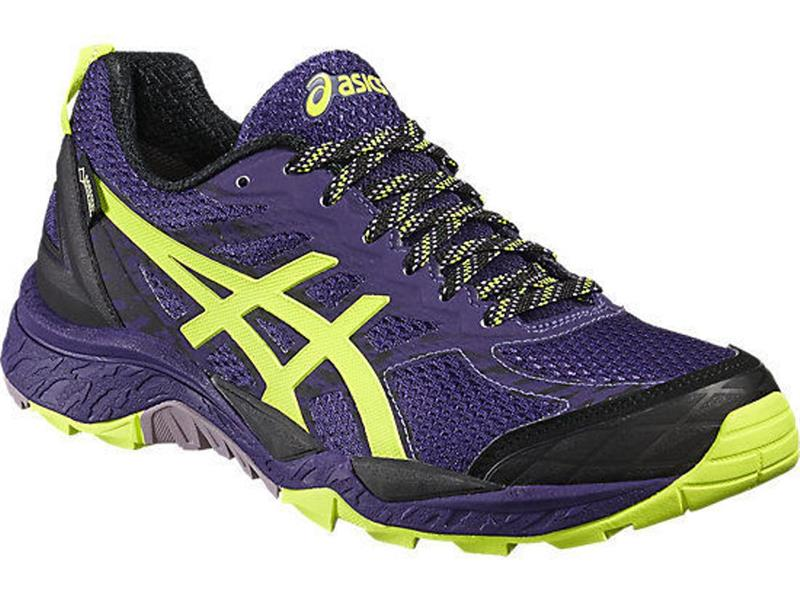 asics Gel Fuji Trabuco 5 G-TX T6J6N Damen purple/yellow/black *UVP 149,99