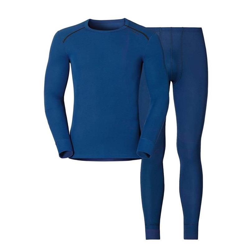 Odlo Set Shirt Long Sleeve Pants Long M warm estate blue 190652 UVP* 99,99