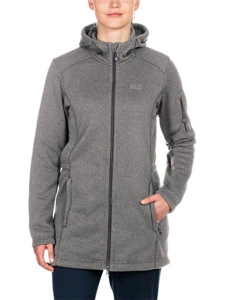 Jack Wolfskin Caribou Parka 1703341 Fleeceparka Damen light grey *UVP 119,99