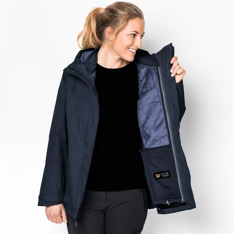 Jack Wolfskin Clearwater Lake Damen 3in1 Doppeljacke blue *UVP 249,99