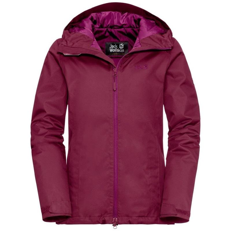 Jack Wolfskin Chilly Morning Wanderjacke Damen gefüttert dark ruby *UVP 149,99