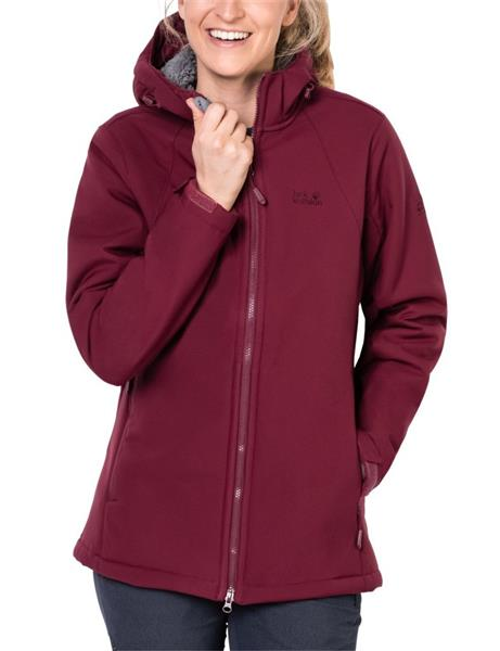 Jack Wolfskin Rock Valley Long Windjacke Damen garnet red *UVP 169,99