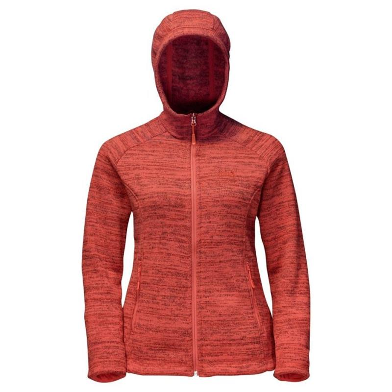 Jack Wolfskin Aquila Hooded Fleece Damen hot coral 1705021 *UVP 119,99