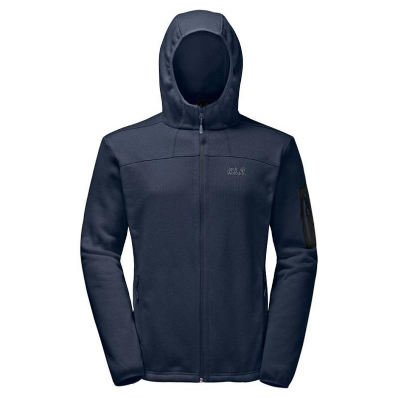 Jack Wolfskin Castle Rock Hooded Jacket Herren night blue *UVP 119,99