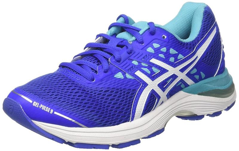 asics Gel Pulse 9 T7D8N Runningschuh Damen blue/white *UVP 99,99