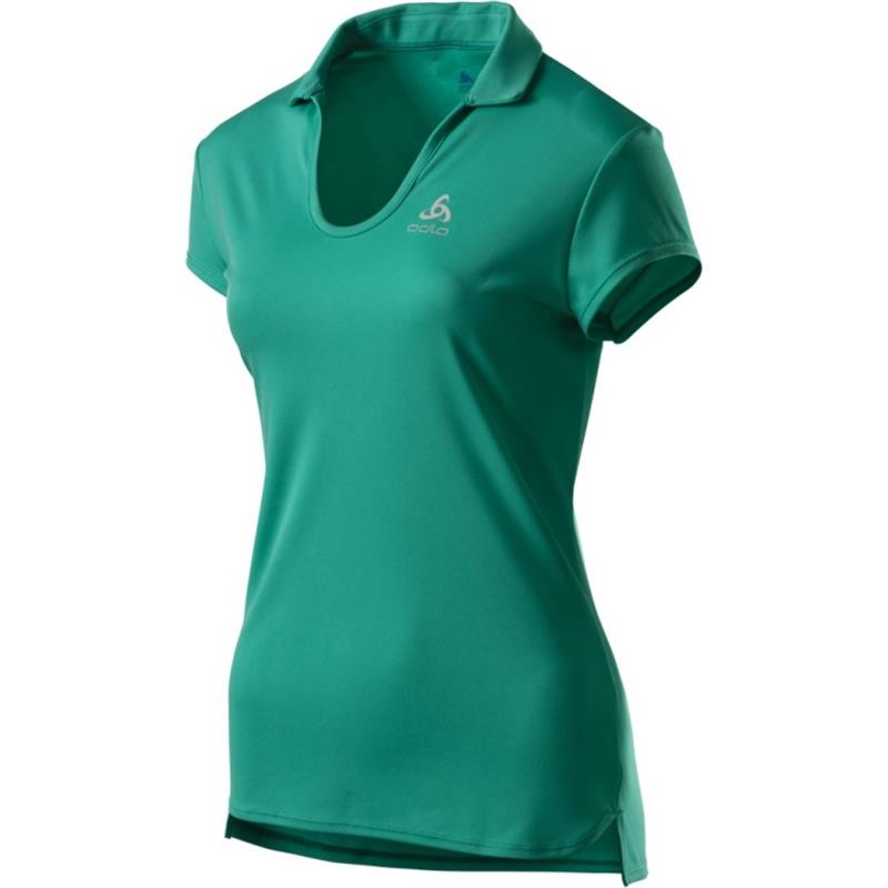 Odlo Polo Shirt s/s Kumano light 550231 Damen pool green *UVP 49,99