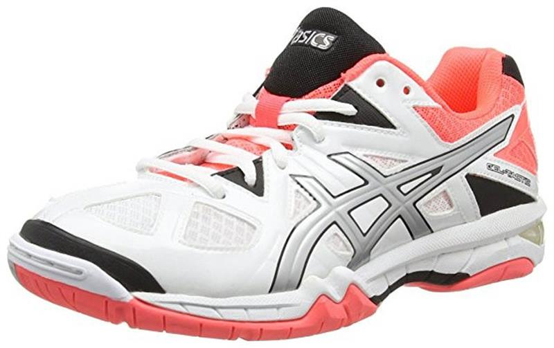 asics Gel Tactic B554N Volleyballschuh Damen white/silver/coral *UVP 99,99