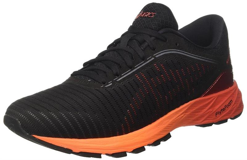 Asics DynaFlyte 2 T7D0N Herren Laufschuh black/red/orange *UVP 159,99