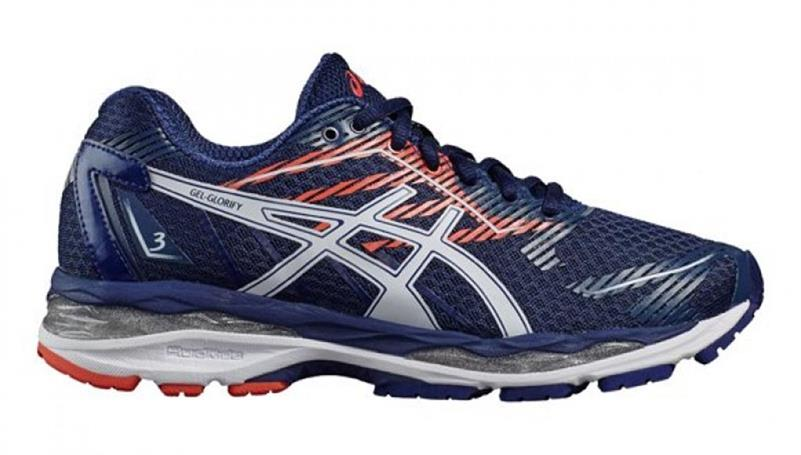 asics Gel Glorify 3 T75QQ Damen Laufschuh blue/white/coral *UVP 169,99
