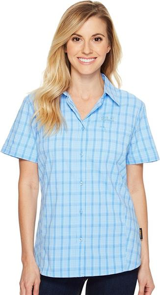 Jack Wolfskin Centaura Stretch Vent Shirt Damen Bluse cool water *UVP 69,99