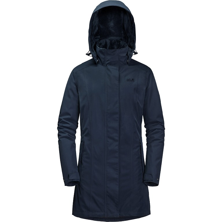 Jack Wolfskin Madison Avenue Coat Winterparka Damen blue *UVP 259,99