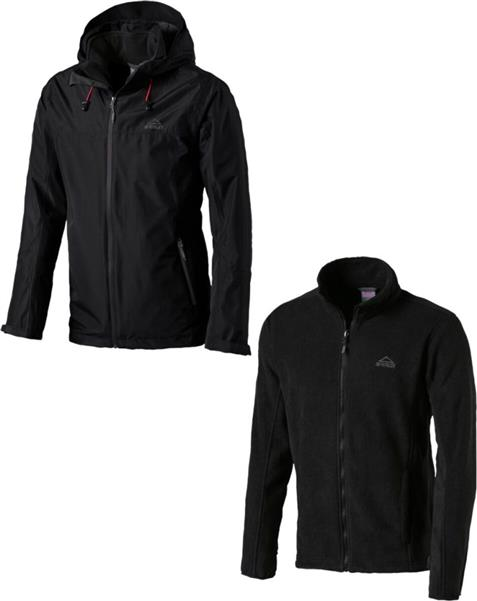 McKinley Mount Blackburn 3-in-1 Doppeljacke Herren black *UVP 119,99