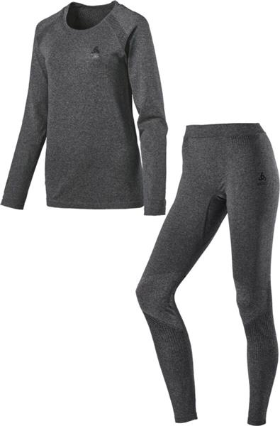 Odlo Set long Performance Essential Damen grey melange 195501 UVP* 129,99