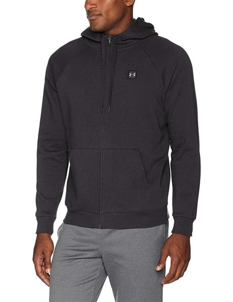 Under Armour Rival Fleecejacke Hoodie Herren black *UVP 59,99