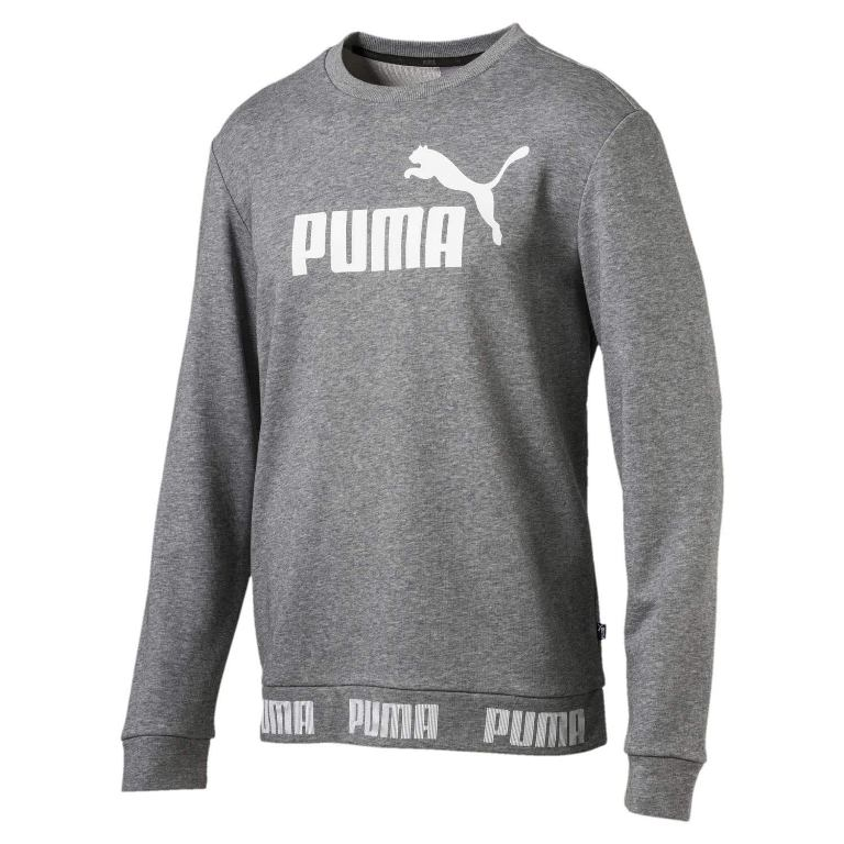 Puma Amplified Crew TR 854736 Pullover Herren gray *UVP 54,99