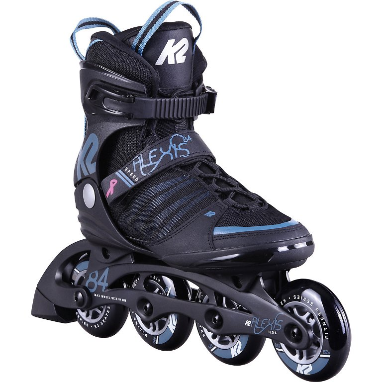 K2 Alexis 84 Speed Alu Inline Skates Damen black/steel blue *UVP 149,99