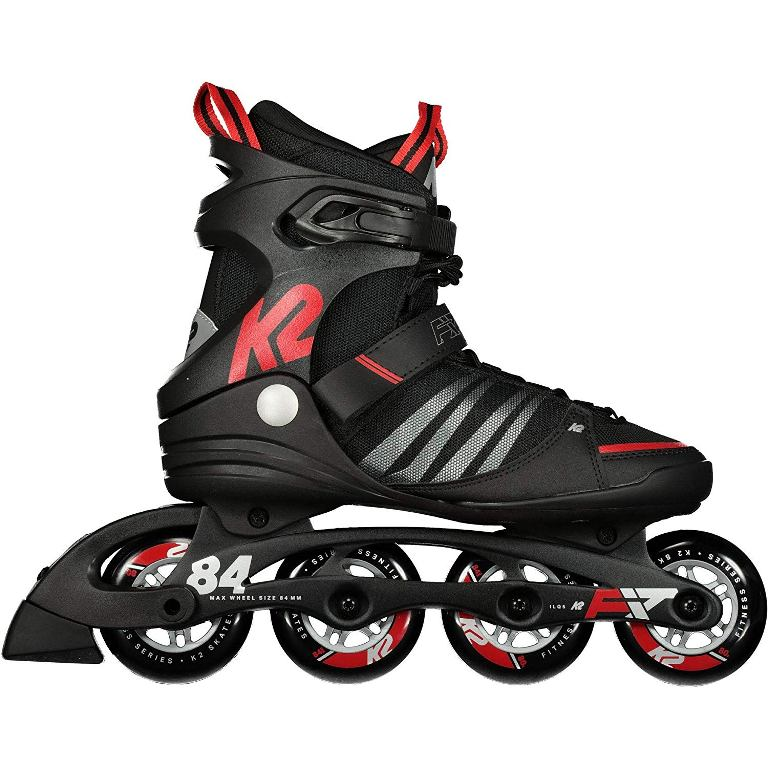 K2 F.I.T. 84 Speed Alu Inline Skates Herren black/red *UVP 149,99