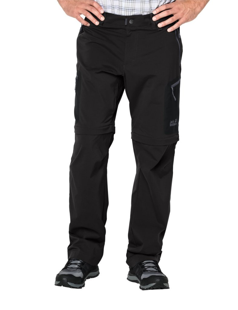Jack Wolfskin Activate Light Zip off Herren Softshell-Hose black *UVP 119,99