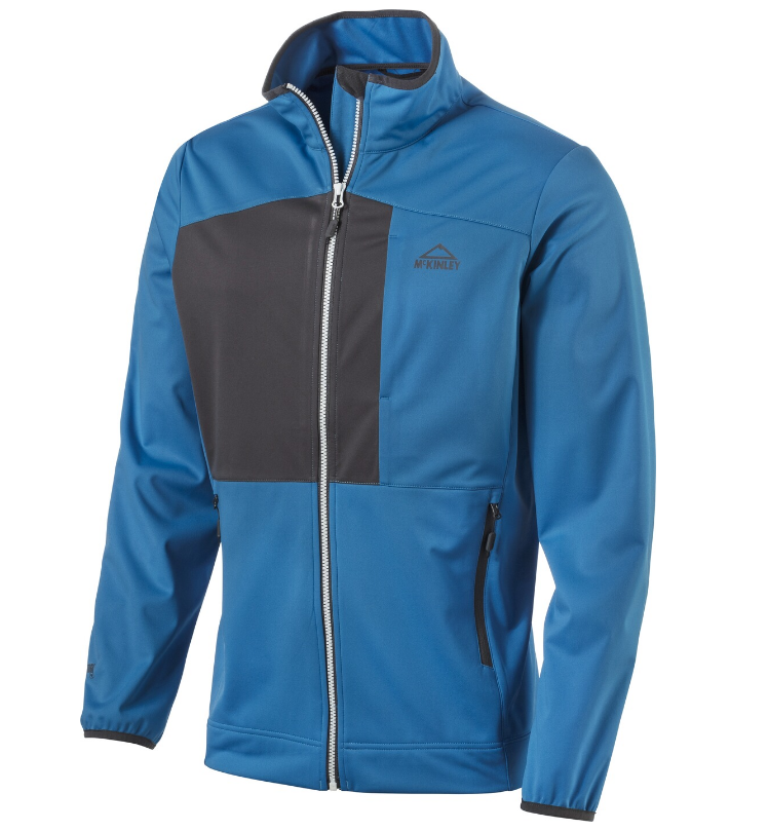 McKinley Clifton Herren Softshelljacke 286138 blue/anthracite *UVP 79,99