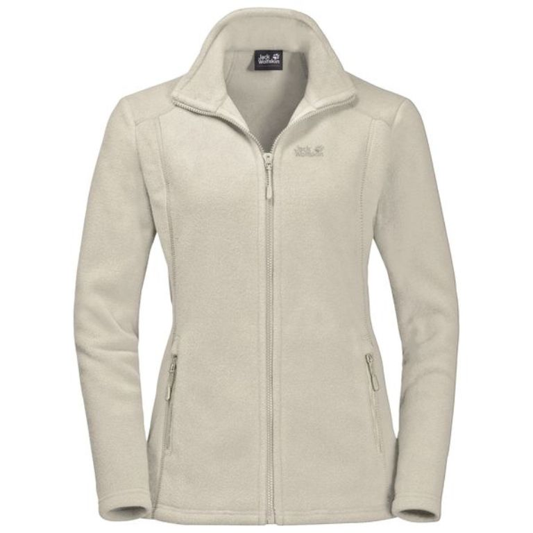 Jack Wolfskin Midnight Moon Damen Fleecejacke white sand *UVP 84,99