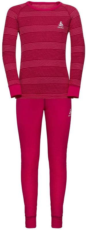 Odlo Kinder Set active warm 150409 Sportunterwäsche cerise *UVP 44,99