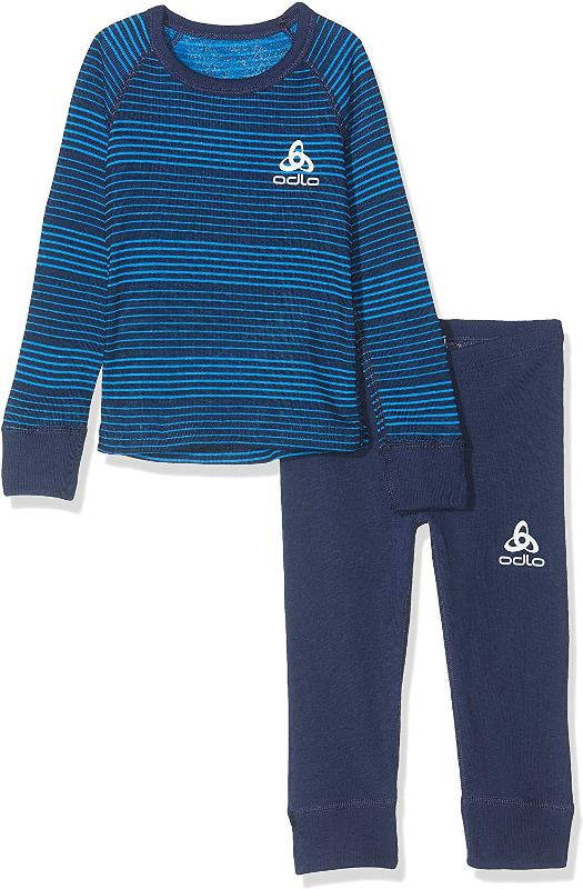 Odlo Kinder Set active warm 150409 Sportunterwäsche navy *UVP 44,99
