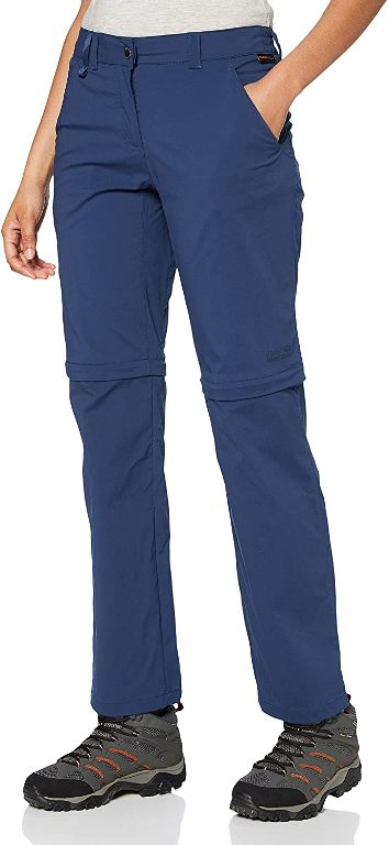 Jack Wolfskin Activate Light Zip Off Pants Damen Softshell-Hose blue *UVP 119,99