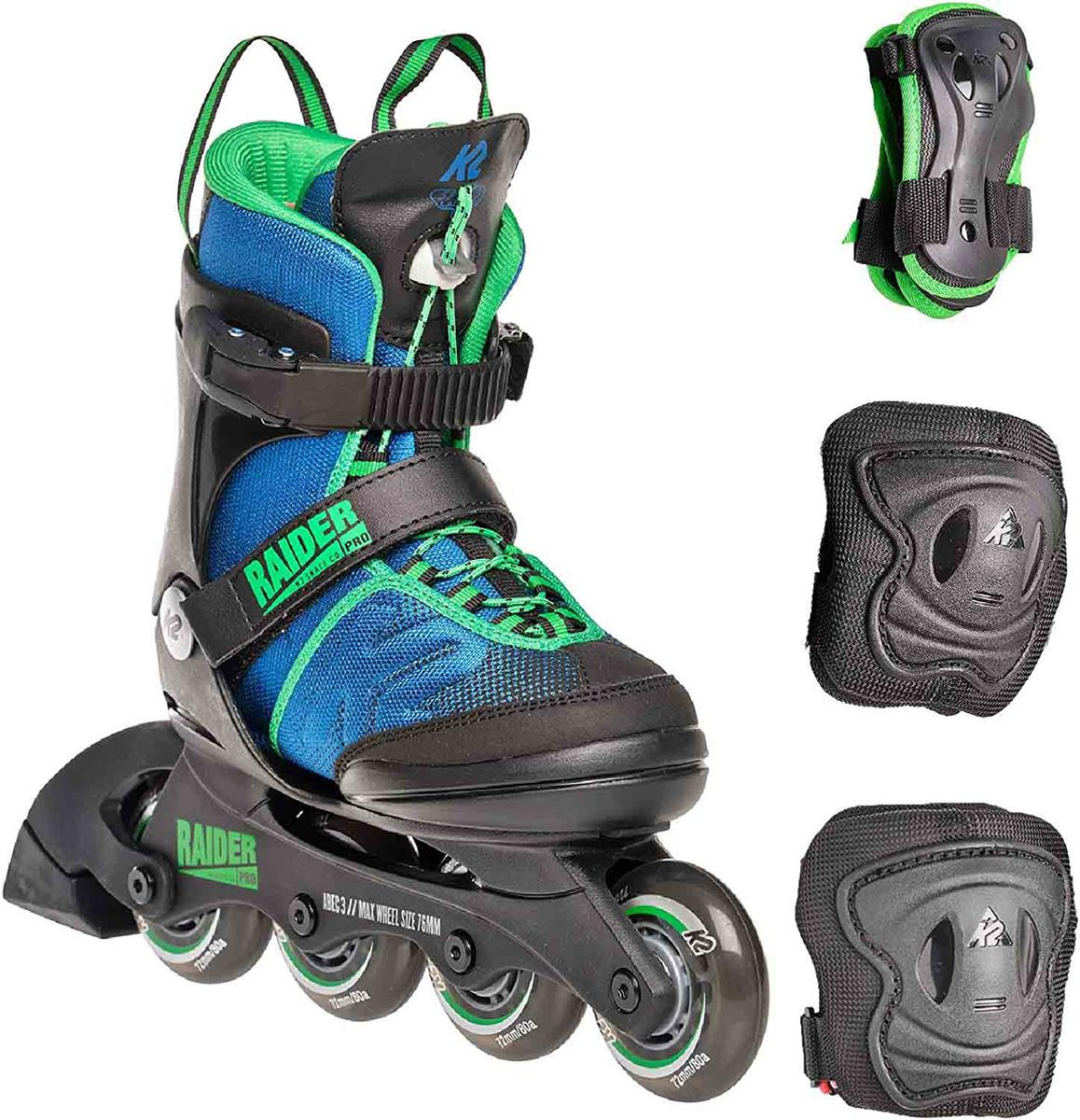 K2 Raider Pro Pack JR Boys Inline Skates 30E0503-1 blue *UVP 119,99
