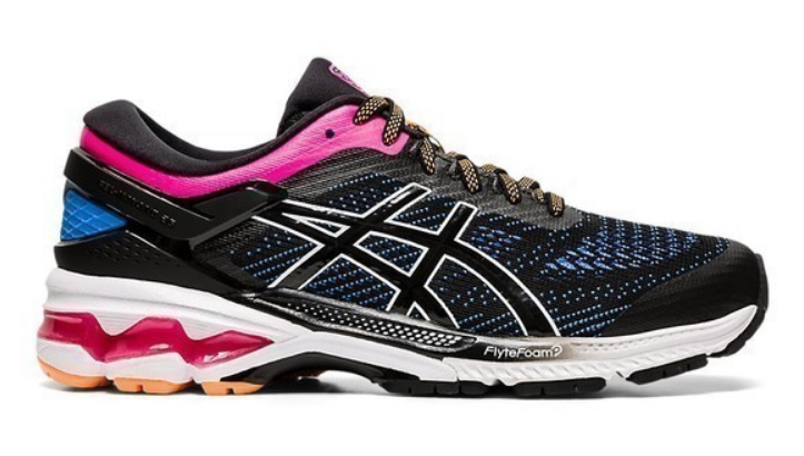 asics Gel-Kayano 26 Laufschuh Damen black/blue coast 1012a457 *UVP 179,99