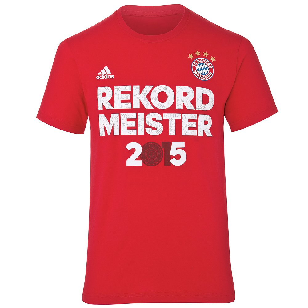 adidas FCB Champion Tee AP1809H Rekordmeister Shirt Kinder rot *UVP 22,95