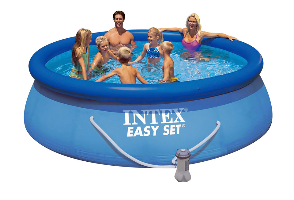 intex schwimmbecken swimming pool 366x76 cm easy set pool quick up planschbecken ebay. Black Bedroom Furniture Sets. Home Design Ideas