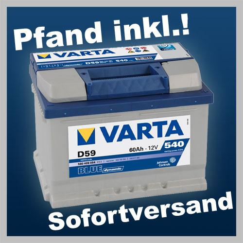 autobatterie starterbatterie varta d59 blue dynamic 60 ah. Black Bedroom Furniture Sets. Home Design Ideas