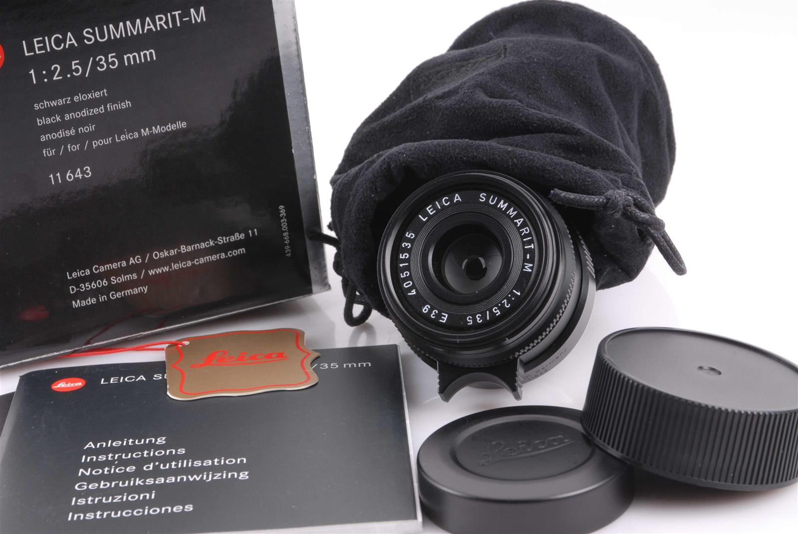Leica Leitz 35mm/1:2.5 Summarit-M black OVP 4051535