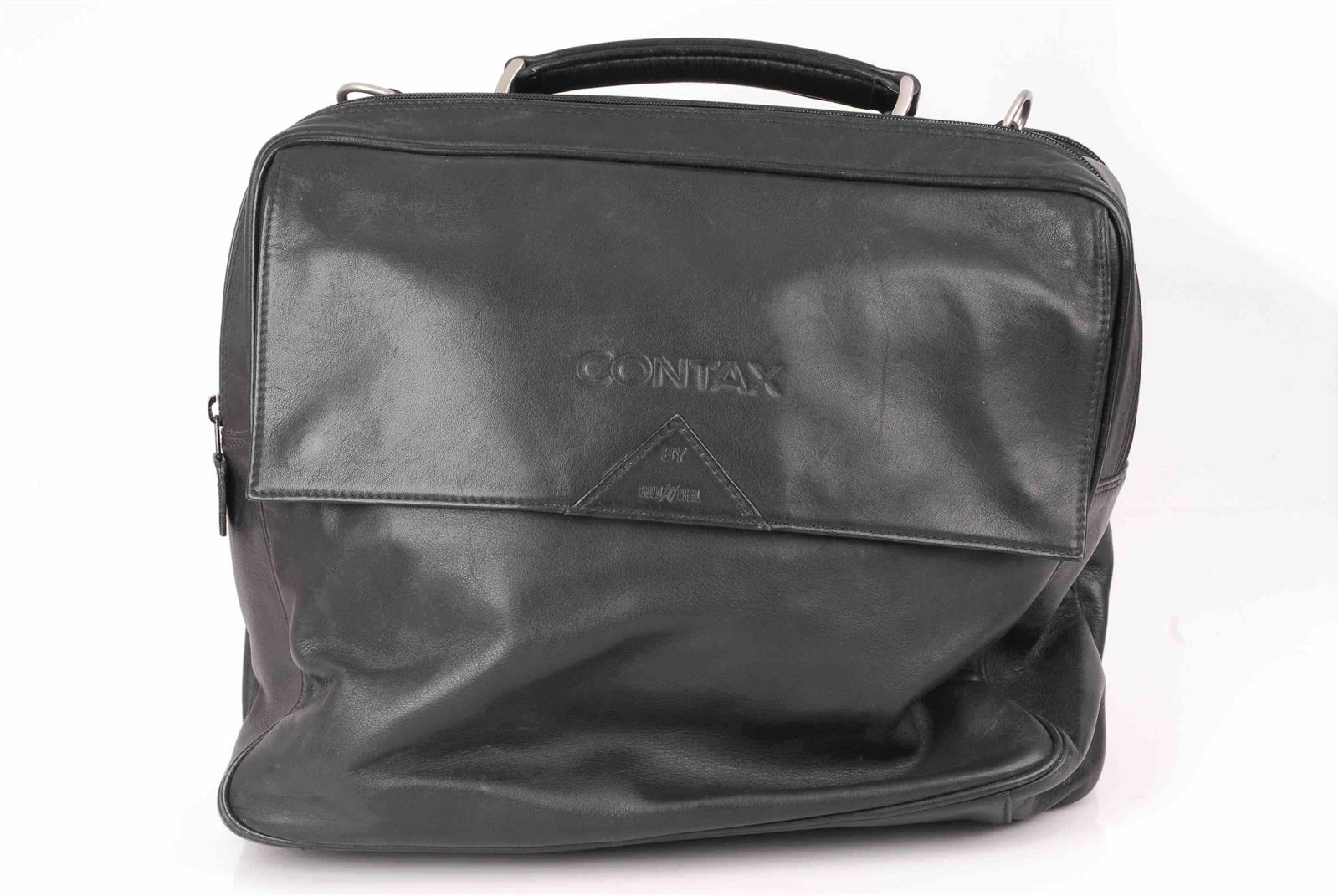 Contax G1 G2 Goldpfeil original G Ledertasche Leather-bag black/ schwarz
