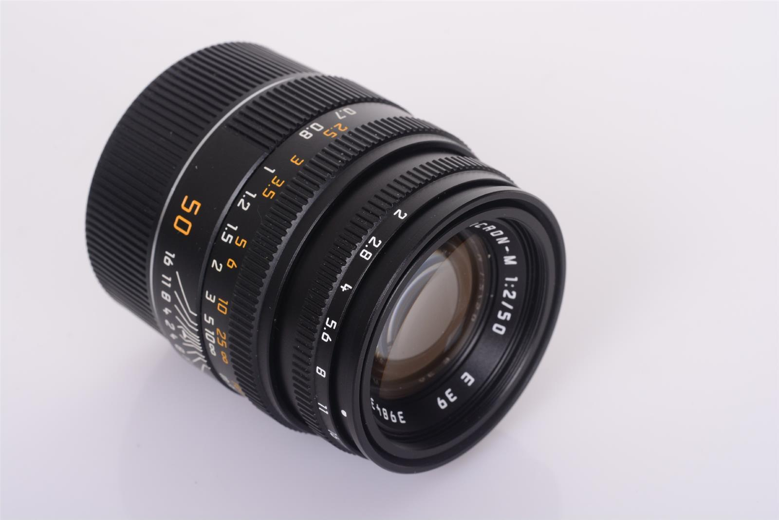 Leica 50mm 2.0 Summicron-M black E39 Germany 3984371